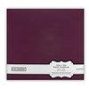 Colorbok - Fabric - 12 x12 - Postbound Scrapbook Albums - Plum