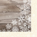 Colorbok - TPC Studio - Woodland Winter Collection - 12 x 12 Double Sided Paper - Snowfall