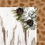 Colorbok - TPC Studio - Woodland Winter Collection - 12 x 12 Double Sided Paper - Pinecones