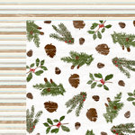 Colorbok - TPC Studio - Woodland Winter Collection - 12 x 12 Double Sided Paper - Greenery