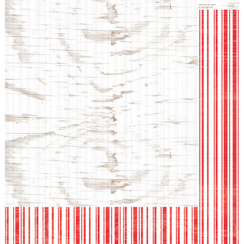 Colorbok - TPC Studio - Woodland Winter Collection - 12 x 12 Double Sided Paper with Varnish Accents - Berry Stripe