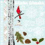Colorbok - TPC Studio - Woodland Winter Collection - 12 x 12 Cardstock Stickers with Glitter Accents