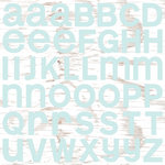 Colorbok - TPC Studio - Woodland Winter Collection - 12 x 12 Cardstock Stickers with Glitter Accents - Alphabet