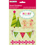 Colorbok - TPC Studio - Sweet Christmas Collection - 3 Dimensional Stickers with Glitter Accents