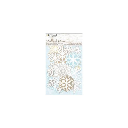 Colorbok - TPC Studio - Woodland Winter Collection - Cardstock Stickers with Flocked Accents