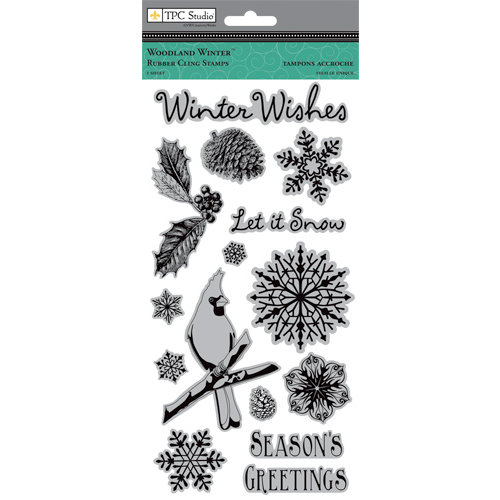Colorbok - TPC Studio - Woodland Winter Collection - Cling Mounted Rubber Stamps
