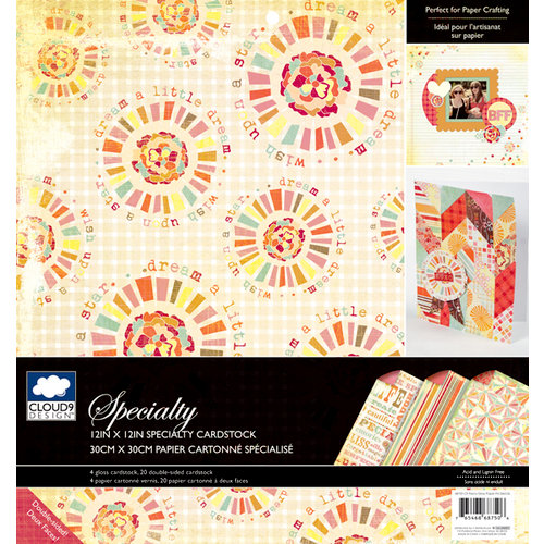 Colorbok - Cloud 9 Design - Fiesta Collection - 12 x 12 Specialty Paper Pad - Gloss