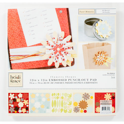 Colorbok - Heidi Grace Designs - Tweet Memories Collection - 12 x 12 Punch Out Pad with Embossed Accents