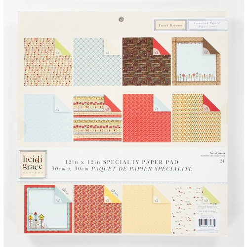 Colorbok - Heidi Grace Designs - Tweet Memories Collection - 12 x 12 Gloss Paper Pad