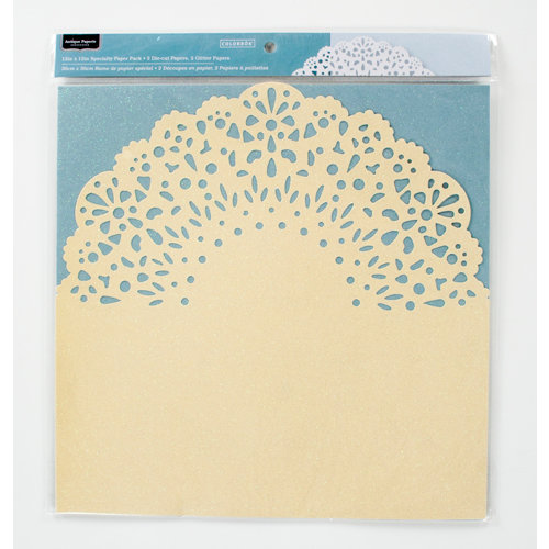 Colorbok - Antique Paperie Collection - 12 x 12 Die Cut Glitter Paper Pack