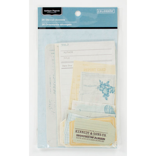 Colorbok - Antique Paperie Collection - Die Cut Cardstock Pieces - Journaling Accents