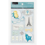 Colorbok - Antique Paperie Collection - Layered Chipboard Stickers with Epoxy Accents