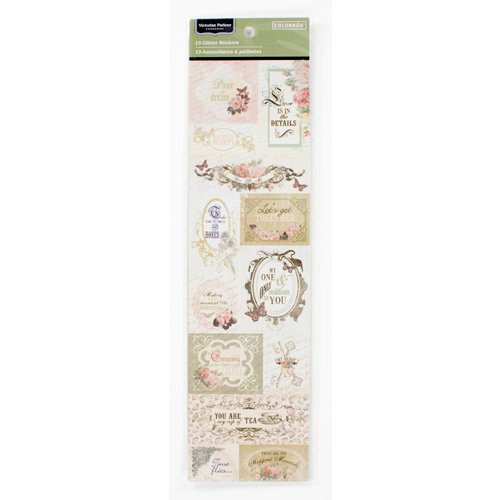Colorbok - Victorian Parlour Collection - Glitter Stickers - Words