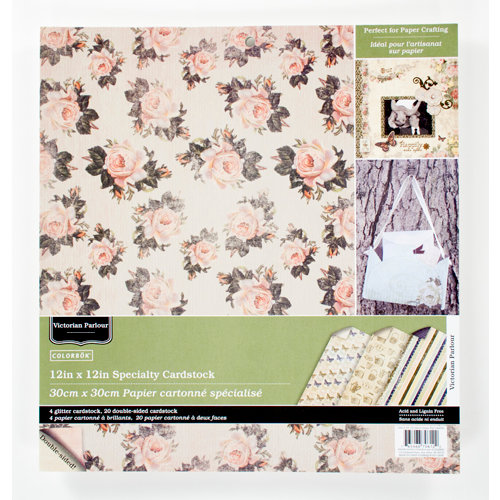 Colorbok - Victorian Parlour Collection - 12 x 12 Glitter Paper Pad