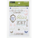 Colorbok - Victorian Parlour Collection - Clear Stickers with Gem Accents