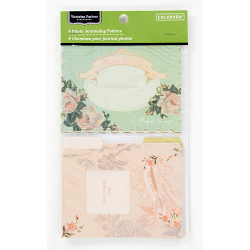 Colorbok - Victorian Parlour Collection - Die Cut Cardstock Pieces - Photo Journaling Folders