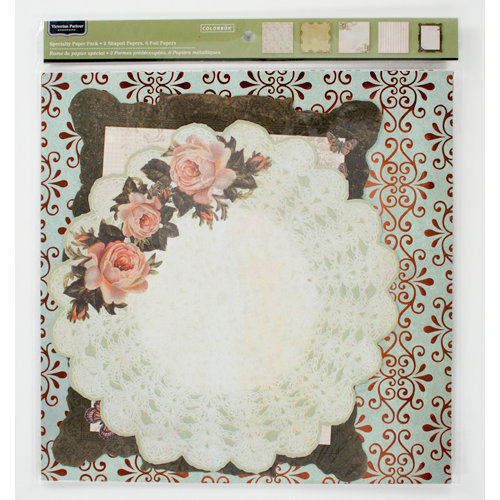Colorbok - Victorian Parlour Collection - 12 x 12 Die Cut Foil Paper Pack