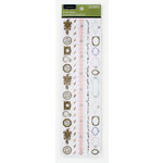 Colorbok - Victorian Parlour Collection - Clear Stickers with Jewel Accents - Borders