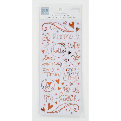 Colorbok - Heidi Grace Designs - Daydream Collection - Clear Foil Stickers with Gem Accents