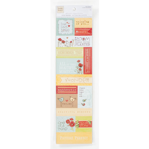 Colorbok - Heidi Grace Designs - Tweet Memories Collection - Glitter Stickers -Words