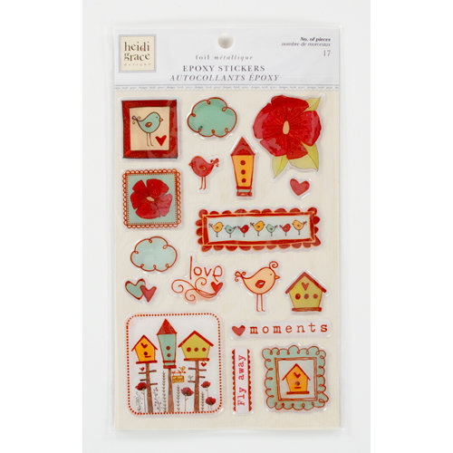 Colorbok - Heidi Grace Designs - Tweet Memories Collection - Foil Epoxy Stickers