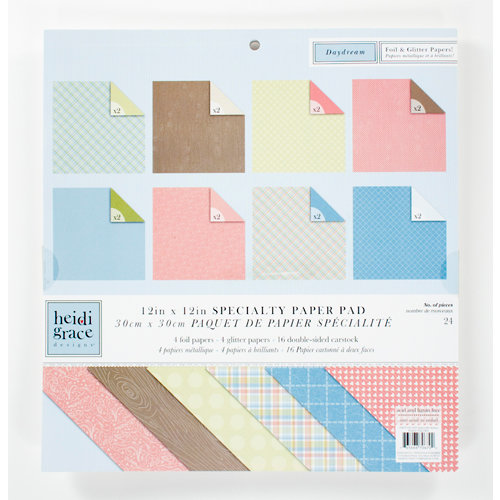 Colorbok - Heidi Grace Designs - Daydream Collection - 12 x 12 Specialty Paper Pad - Basics