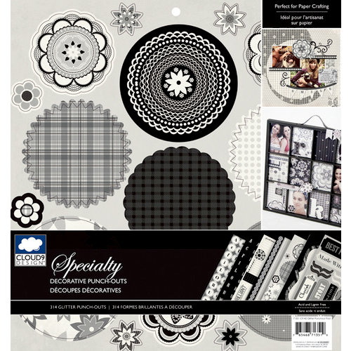 Colorbok - Cloud 9 Design - Nightshade Collection - 12 x 12 Punch Out Pad with Glitter Accents - Die Cuts