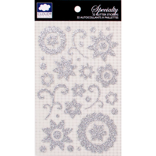 Colorbok - Cloud 9 Design - Nightshade Collection - Die Cut Glitter Stickers