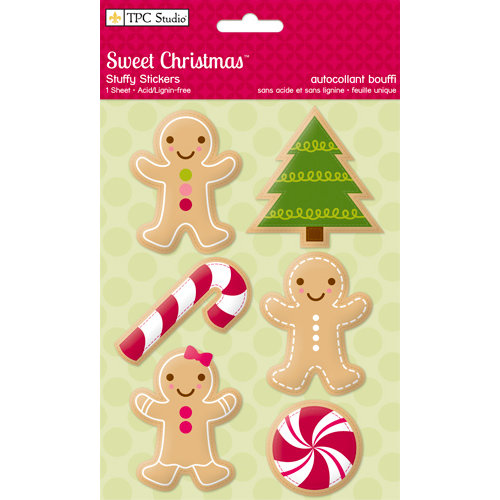 Colorbok - TPC Studio - Sweet Christmas Collection - Fabric Stuffy Stickers