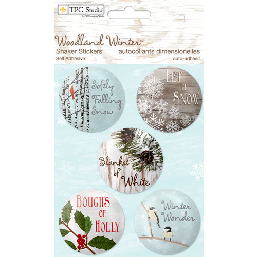Colorbok - TPC Studio - Woodland Winter Collection - Shaker Stickers with Glitter Accents