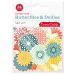 Cosmo Cricket - Salt Air Collection - Lovely Bits - Butterflies and Doilies, BRAND NEW