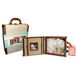 Cosmo Cricket - Biography 101 - 8 Inch Post Bound Album and Shadowbox - Brown