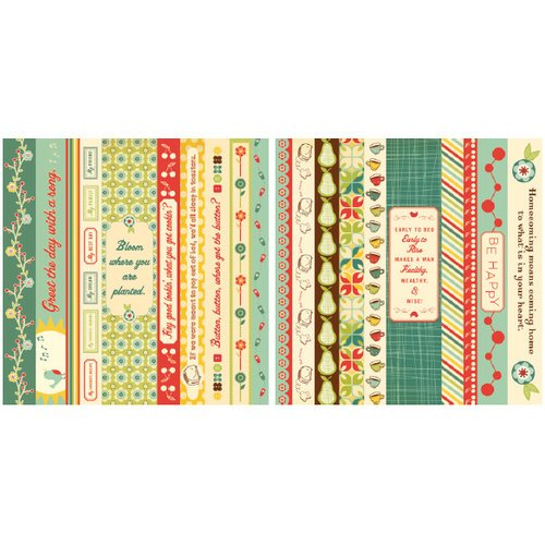Cosmo Cricket - Early Bird Collection - 12 x 12 Double Sided Paper - Borders