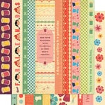 Cosmo Cricket - Material Girl Collection - 12 x 12 Double Sided Paper - Borders