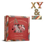 Cosmo Cricket - Cigar Box with 101 Chipboard Pieces and Shapes - Jitterbug, CLEARANCE