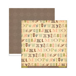 Cosmo Cricket - Evangeline Collection - 12 x 12 Double Sided Paper - Calligraphy