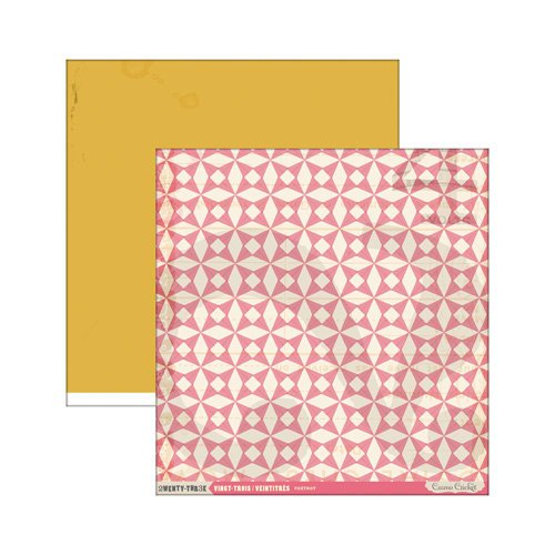 Cosmo Cricket - 23 Collection - 12 x 12 Double Sided Paper - Foxtrot