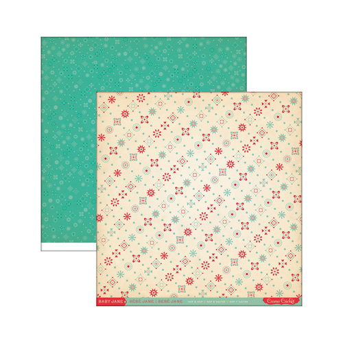Cosmo Cricket - Baby Jane Collection - 12 x 12 Double Sided Paper - Hop and Skip