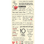 Cosmo Cricket - Cardstock Stickers - Tiny Text - Love