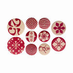 Cosmo Cricket - Elements - Christmas - Wood Buttons - Cheer