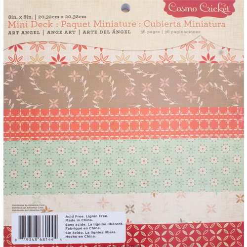 Cosmo Cricket - Art Angel Collection - Mini Deck - 8 x 8 Paper Pad