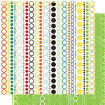 Cosmo Cricket - Hello Sunshine Collection - 12x12 Double Sided Paper - Hula Hoop, CLEARANCE
