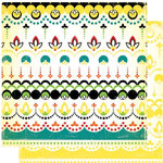 Cosmo Cricket - Hello Sunshine Collection - 12x12 Double Sided Paper - Hopscotch, CLEARANCE