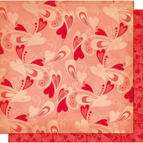 Cosmo Cricket - Chemistry Collection - Valentines - 12 x 12 Double Sided Paper - Head Over Heels