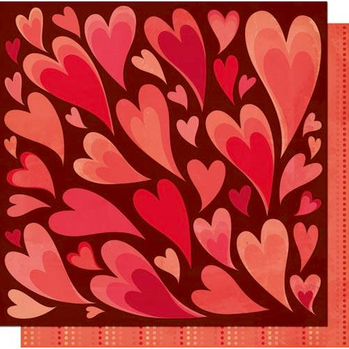 Cosmo Cricket - Chemistry Collection - Valentines - 12 x 12 Double Sided Paper - She Loves Me
