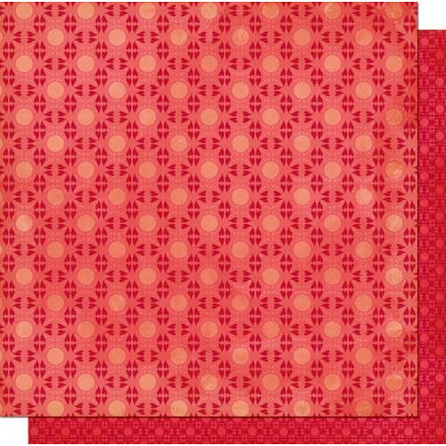 Cosmo Cricket - Chemistry Collection - Valentines - 12 x 12 Double Sided Paper - Wink Wink, CLEARANCE