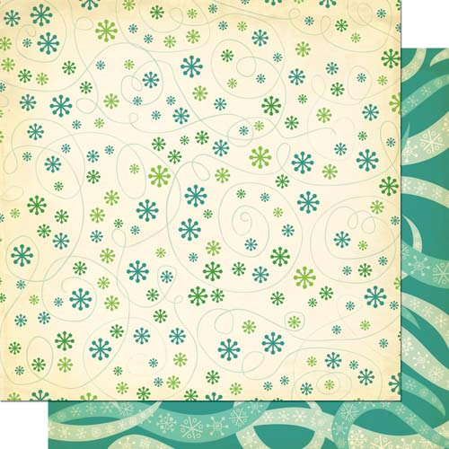 Cosmo Cricket - Jolly By Golly Collection - 12 x 12 Double Sided Paper - Breezy Freezy