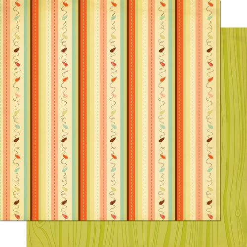 Cosmo Cricket - Nutmeg Collection - 12 x 12 Double Sided Paper - Falling Down