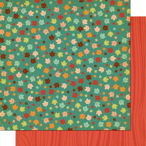 Cosmo Cricket - Nutmeg Collection - 12 x 12 Double Sided Paper - Autumn