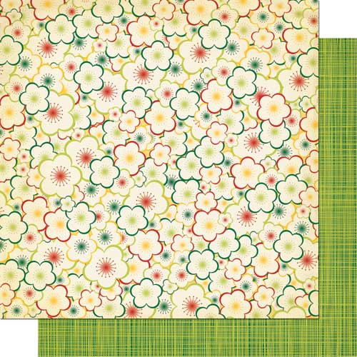 Cosmo Cricket - Garden Variety Collection - 12 x 12 Double Sided Paper - Bloomers